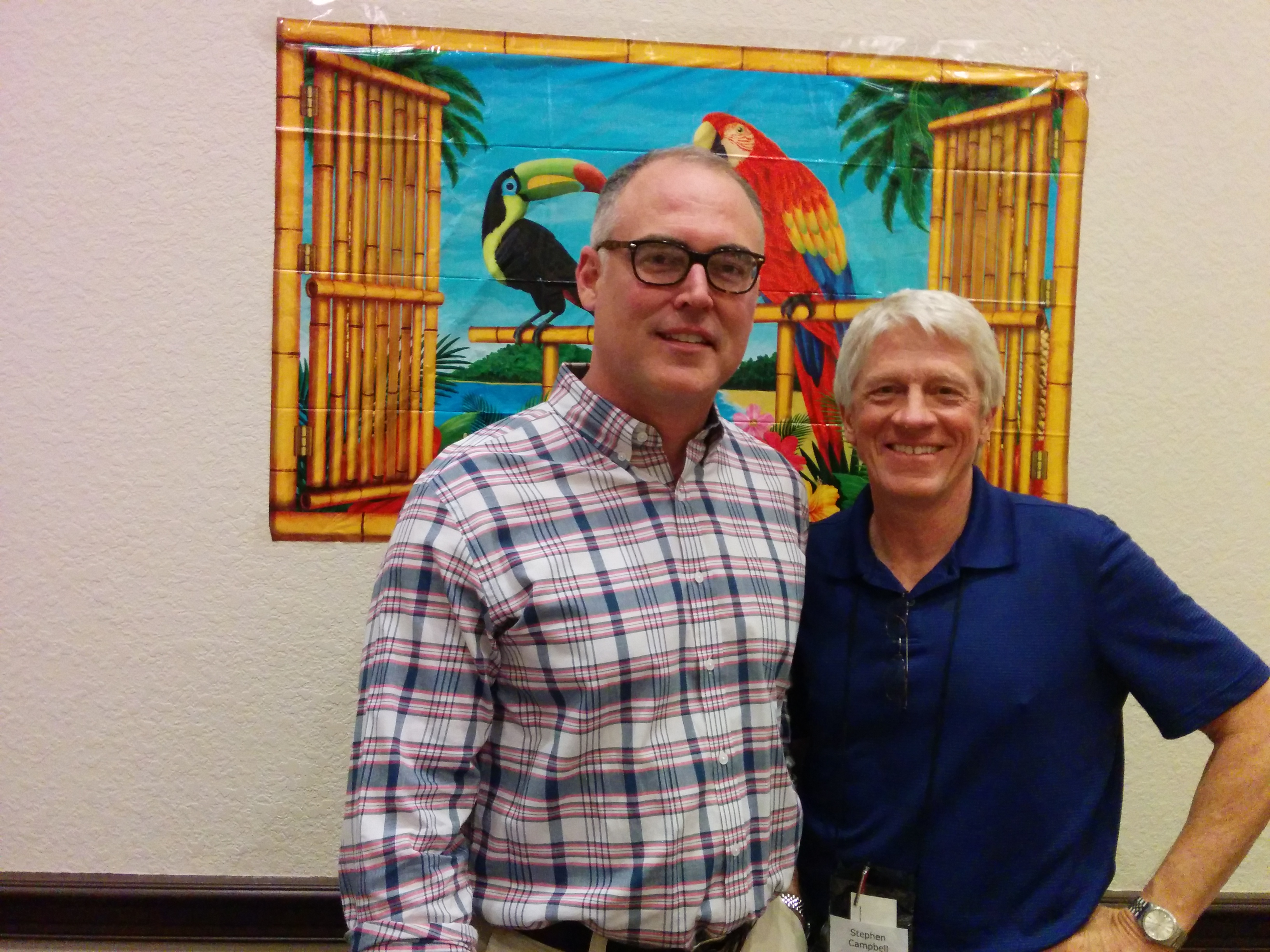 Ace Atkins and Stephen Campbell at Sleuthfest 2014